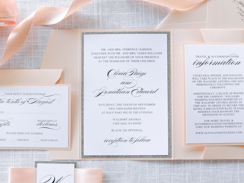 wedding invitations second city stationery chicago illinois