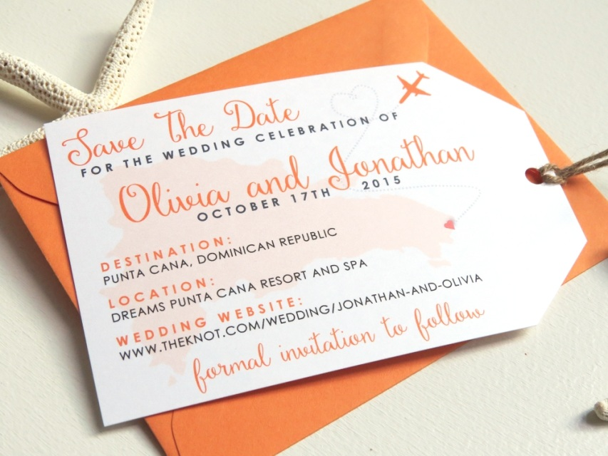 Luggage Tag Save The Dates For A Destination Beach Resort Tropical Or Travel Wedding
