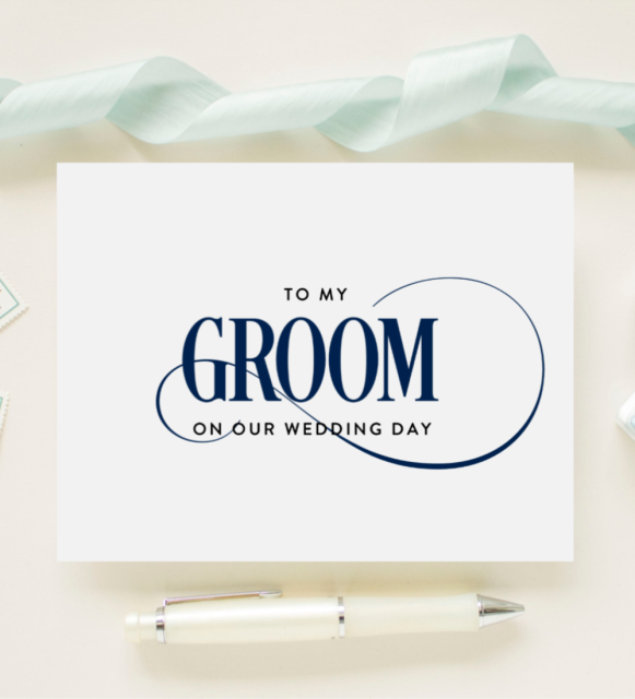 3936287aca103 Custom Color Wedding Day Card for Your Groom, Fiance, Future Husband - To  My Groom On Our Wedding Day