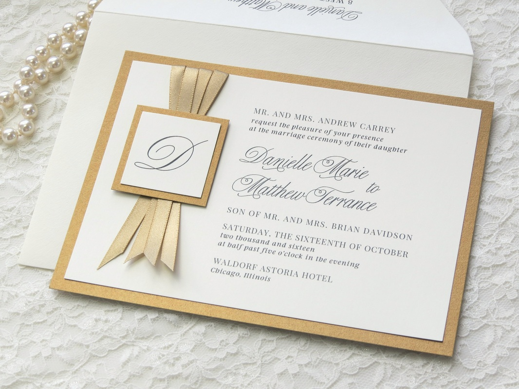 Gold Wedding Invitations, Save The Dates, Thank You Cards, Will You ...