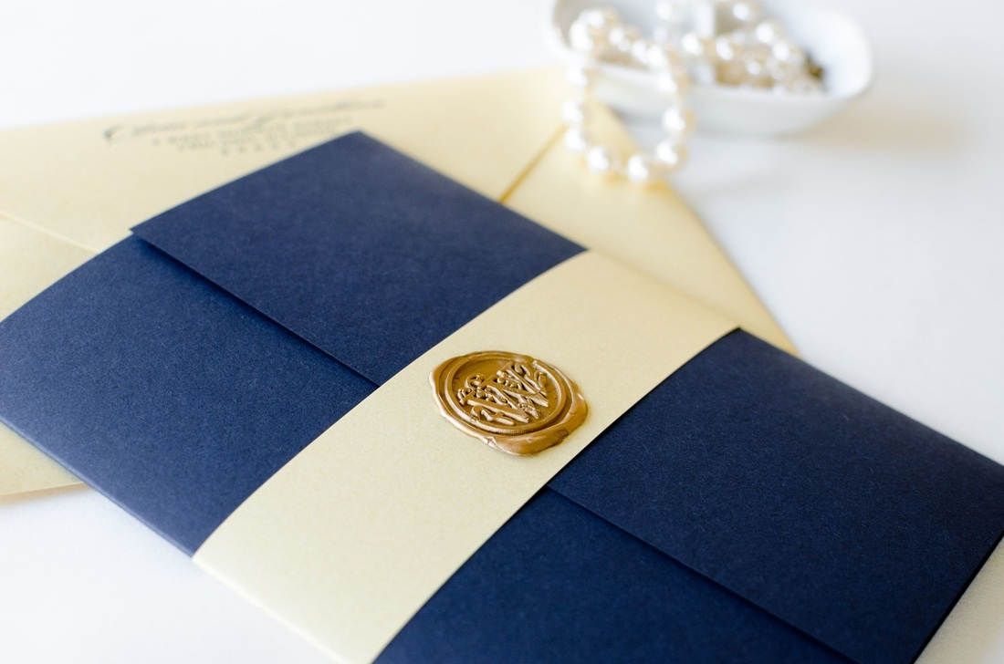 The Revel wedding invitation is a Navy Blue