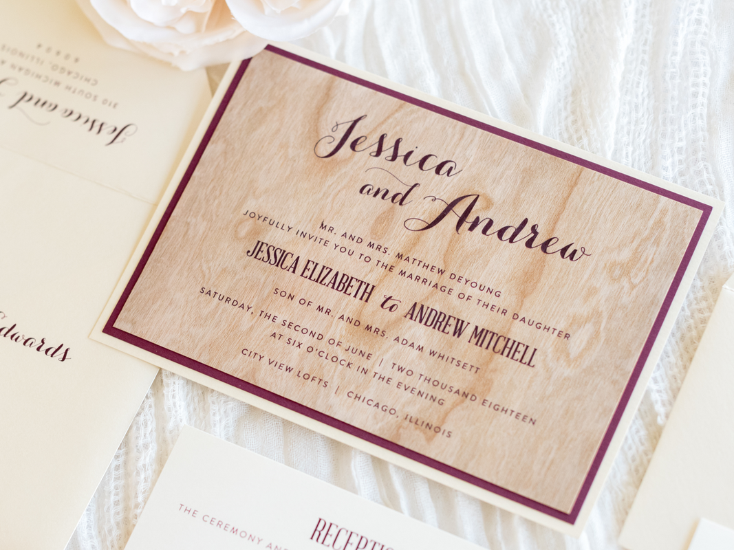 real-cherry-wood-wedding-invitation-layered-with-opal-champagne-shimmer-and-burgundy-rustic-barn-wood_1