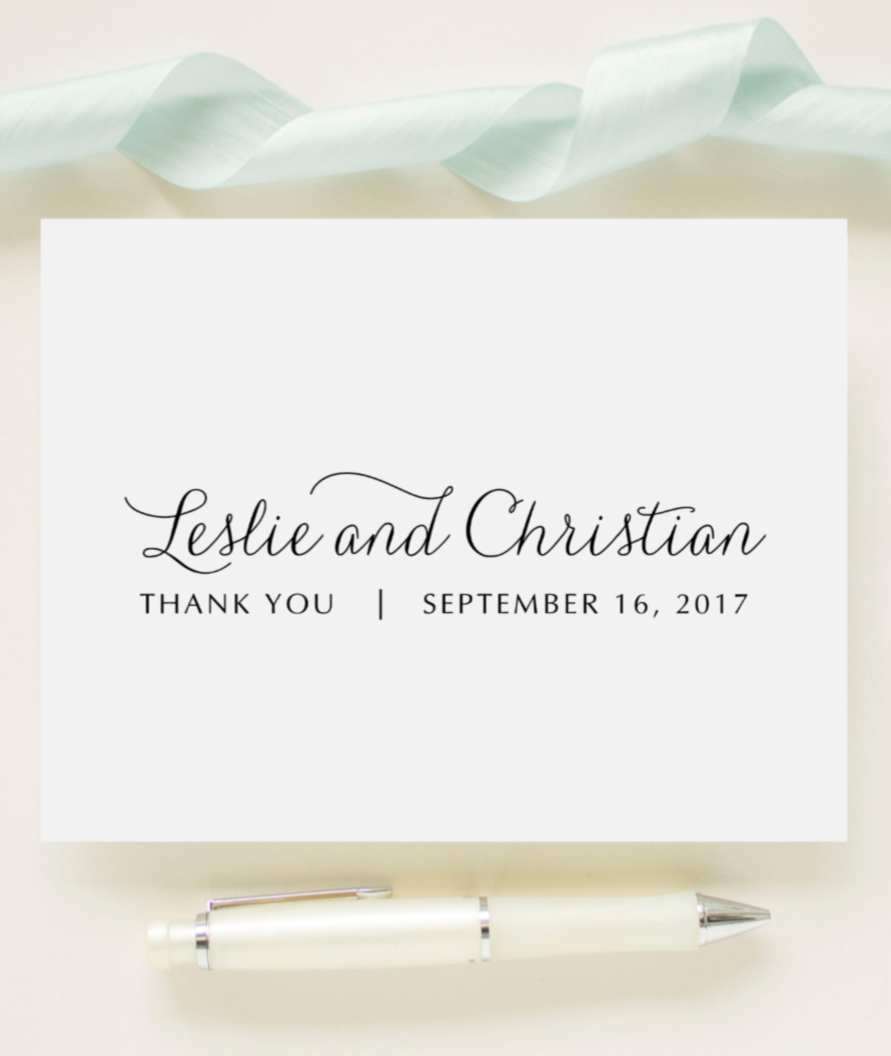 custom color newlywed wedding thank you cards bridal shower wedding cards fairytale suite - Custom Wedding Thank You Cards